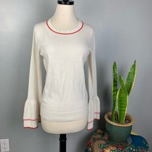 Boden Fae Frill Bell Sleeve knit blouse